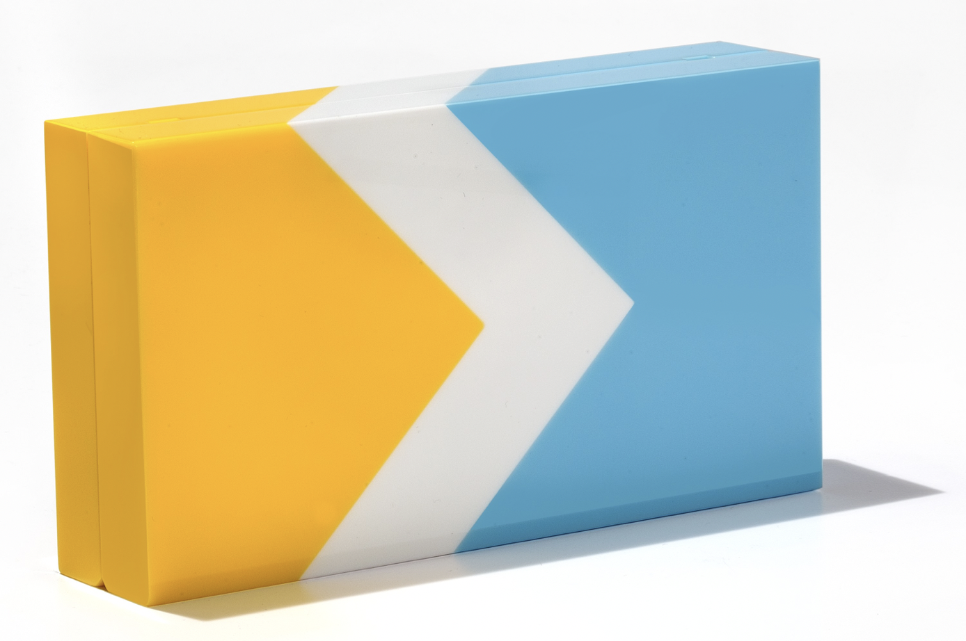 Surf Minaudiere - Blue White Yellow