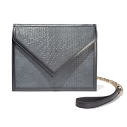 BLACKSEA  Greenwich Clutch Charcoal Nubuck Embossed
