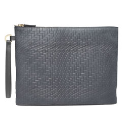 BLACKSEA Varick Pochette Charcoal Nubuck Embossed