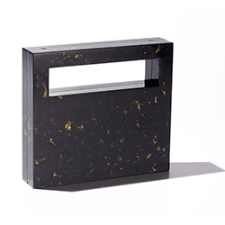 BLACKSEA Eastern Block Tall Clutch Black